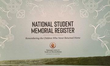 National Student Memorial Register honours children who died in residential school