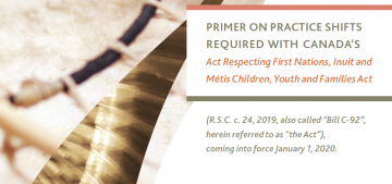 Primer on practice shifts required with Canada's ActRespecting First Nations, Inuit andMétis Children, Youth and Families Act