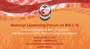 Assembly of First Nations hosts virtual forum on Bill C-15